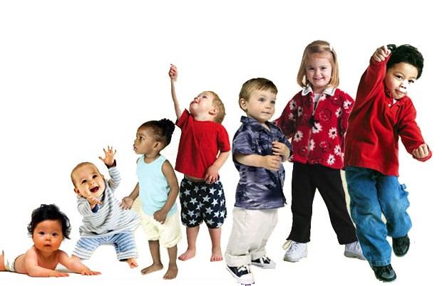 Características físicas del cuerpo humano de 0 a 6 años